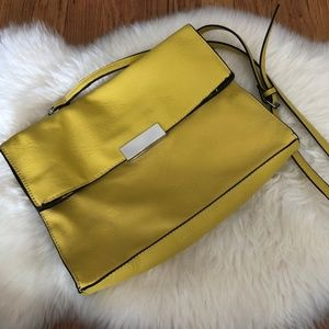 Zara Yellow & Black Cross-body/Shoulder/Clutch